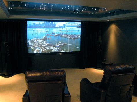 Basement Remodeling theater with fiber optical ceiling modern basement