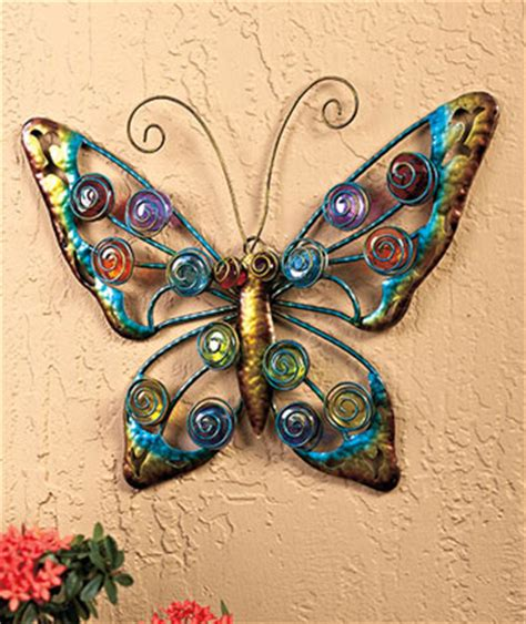 metal butterfly wall decor garden colorful butterfly outdoor wall decor metal glass