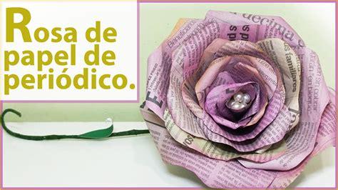 confeccion de flores de papel pediodico rosas de papel de peri 211 dico y acuarela tutorial f 225 cil