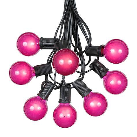 buy globe string lights 100 pink g40 globe round outdoor string light set on black