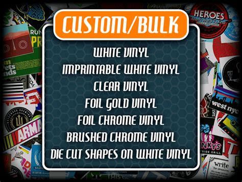 Bulk Custom Stickers