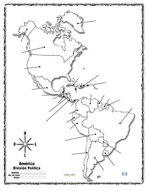 america mapa nombres mapa america con nombres