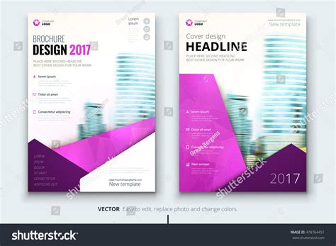 modern layout pink brochure modern layout design corporate stock vector
