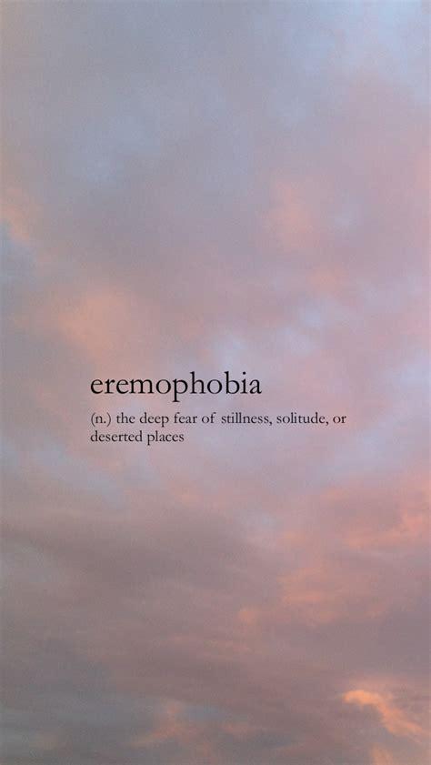 eremophobia weird words unusual words uncommon words