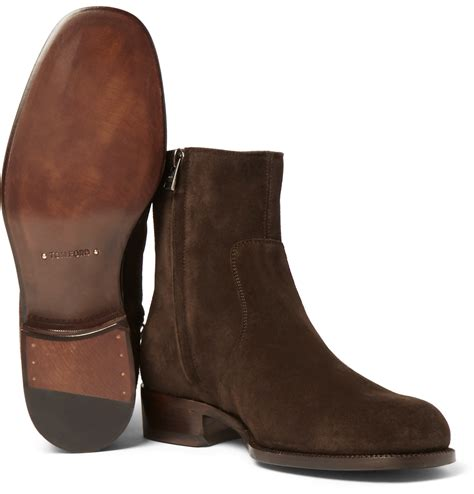 tom ford boots for tom ford wilson suede boots in brown for lyst