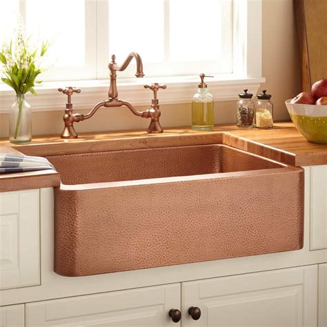Hammered Nickel Kitchen Sink Hammered Brushed Nickel Farmhouse Sink Home Ideas