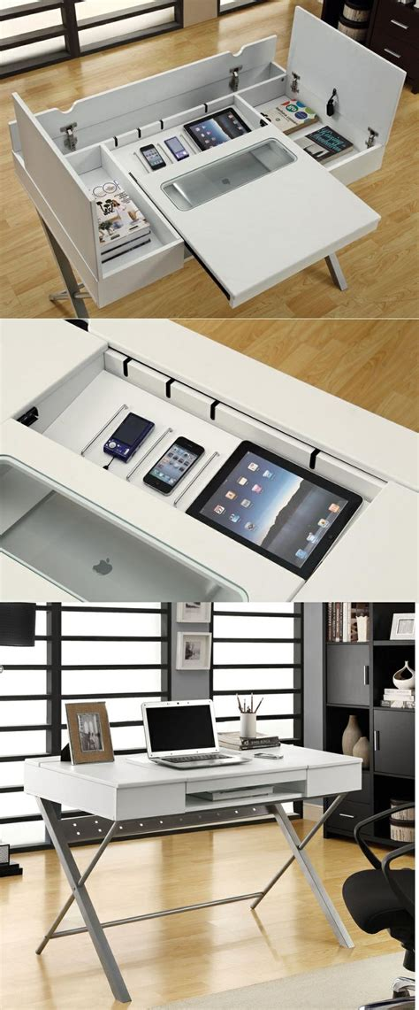 writing desk with charging station unique home office desks