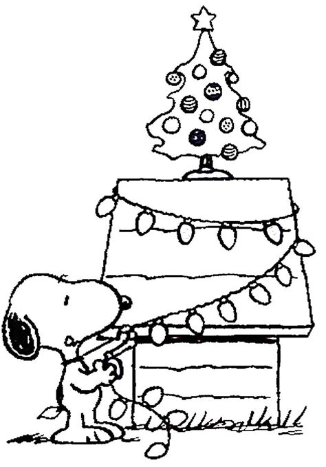 coloring pages christmas snoopy free printable charlie brown christmas coloring pages for