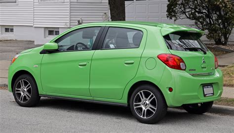 mitsubishi green file 2014 mitsubishi mirage es in green rear left jpg