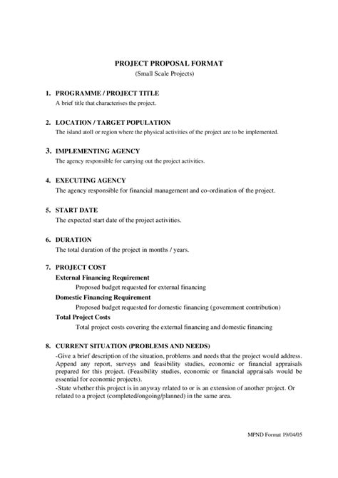 proposal report layout project proposal format template professional acting cover