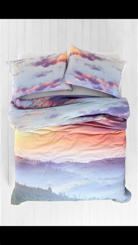 sunset bedding bag sunset clouds bedding bedspread bedcover blanket