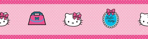 Kitchen Cabinets Clearance by Decofun Hello Kitty Pink Border Departments Diy At B Amp Q