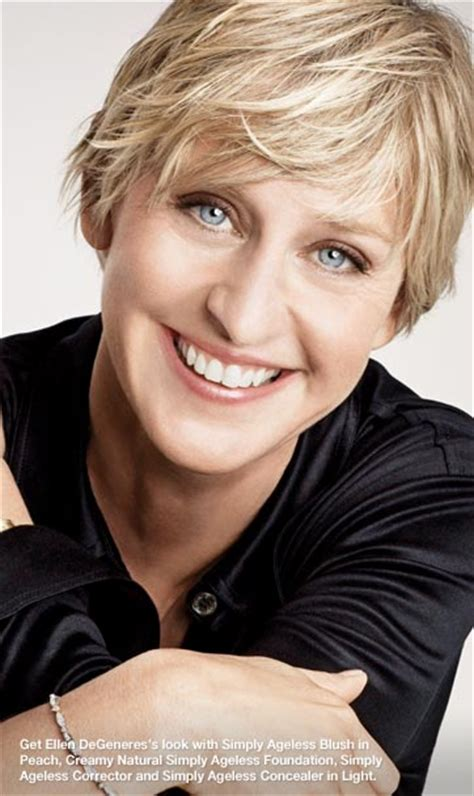 olay ageless model get ellen degeneres s look with simply ageless blush in