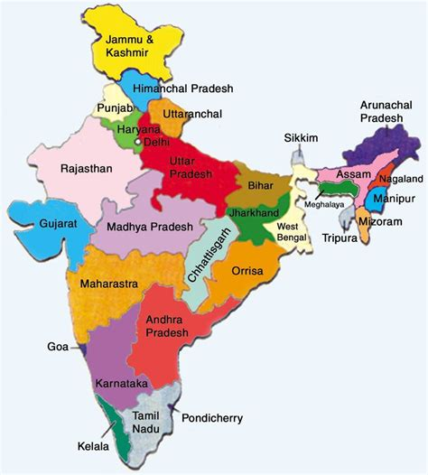 india map with country name 25 best ideas about india map on map of india