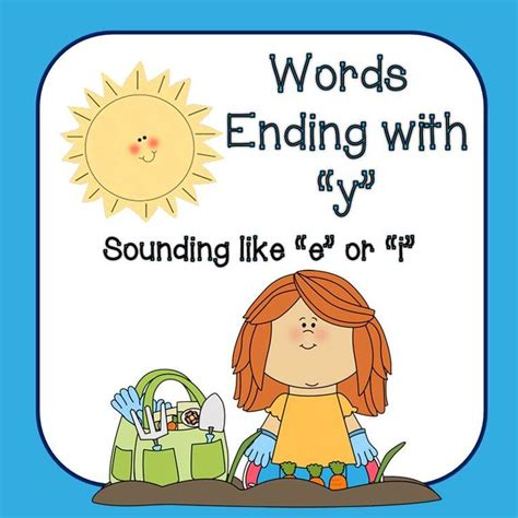 words that end with room word sorts words ending in quot y quot when quot y quot sounds like quot i quot or quot e quot activities phonics and school