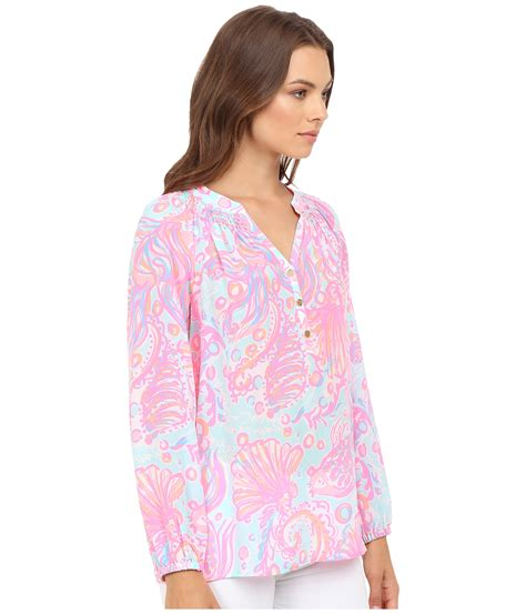 Lesa Top Pink 2 Lilly Pulitzer Elsa Top Pink Pout Much Bubbly Zappos