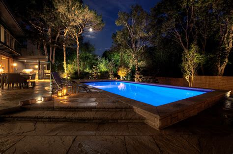 Landscape Lighting Toronto Outdoor Lighting Toronto Contemporary Pool Toronto By Spectral Lv Lighting Systems