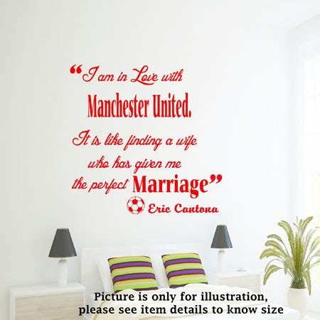 quot i am in love quot manchester united football club wall quote