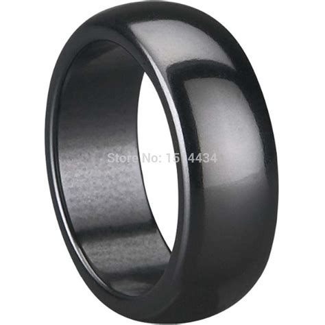 B1485 13 Sz 7 9 11 13 15 105rb 8mm size 7 8 9 10 11 12 13 14 15 classical simple plain polished black ceramic wedding