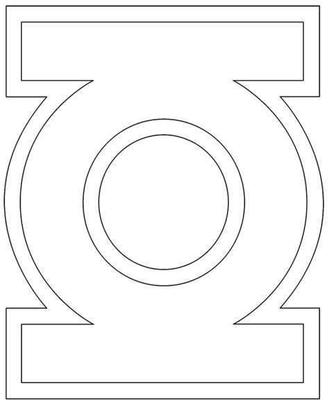 green lantern symbol coloring pages coloring pages