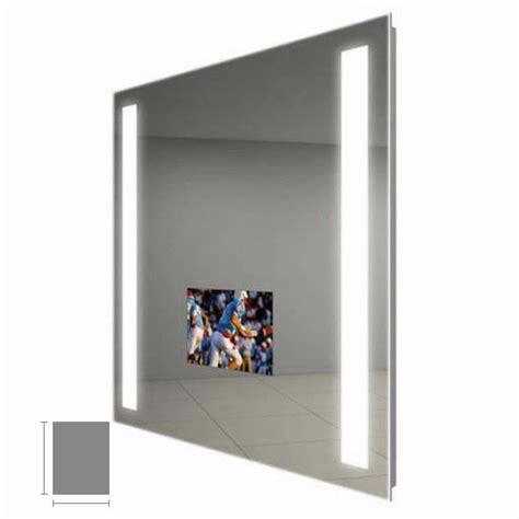 electric mirror bathroom electric mirror fusion 28 quot x 36 quot lighted mirror tv fus2836