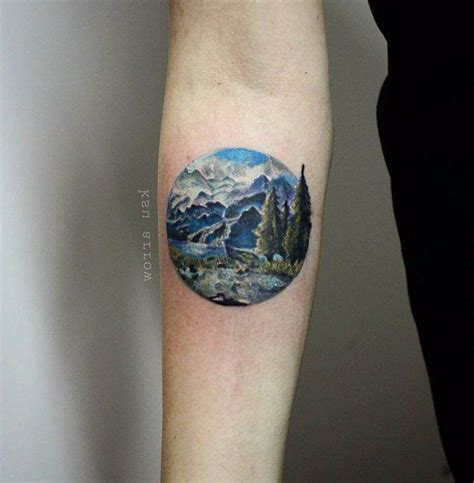 circle tattoo creator circle forearm landscape tattoos pictures to pin on