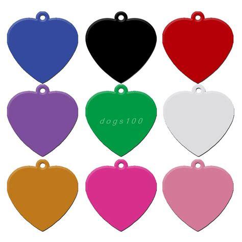 name tag heart design 20 pcs lot aluminum pet name tag custom engraved dog cat