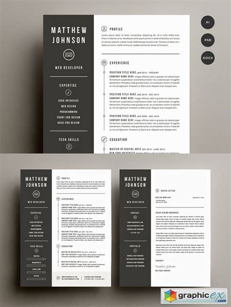 Cover Letter Template Photoshop Resume Cover Letter Template 187 Free Vector