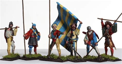 toys pavia mmsp13 landsknecht infantry with standard from manes