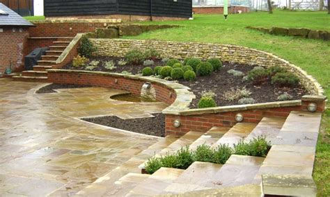 Sloping Garden Design Ideas Patio Designs Ideas For Sloping Garden Landscaping Gardening Ideas