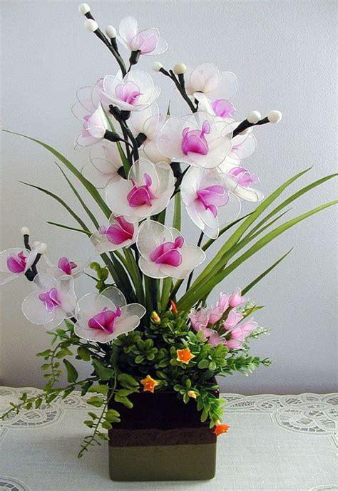 Handmade Flower Arrangements - handmade white orchids arrangement hoa voan
