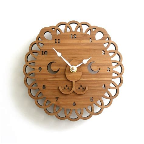 wooden clock style and design knowledgebase lion clock for unique personal statement cool ideas for home