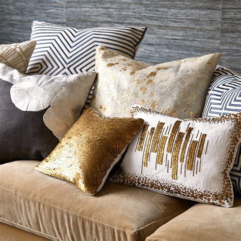 Metallic Throw Pillows by Cowhide Metallic Throw Pillow Modern Textured
