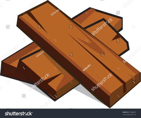 Lumber Batch Cartoon Vector Illustration Stock Vector