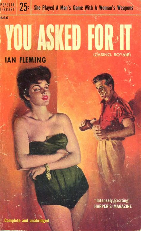 she asked for it you asked for it original title casino royale pulp covers