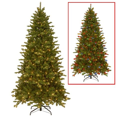 9 ft pre lit multi color christmas tree
