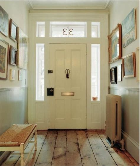Foyer Floor rustic plank floor transitional entrance foyer