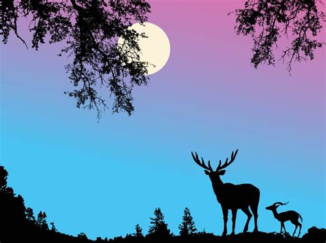 deer background vector vector art graphics freevectorcom