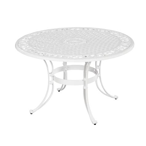 white patio table home styles biscayne 48 in patio dining table