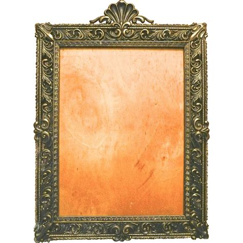 large decorative frame large solid brass decorative frame italy sold on ruby lane