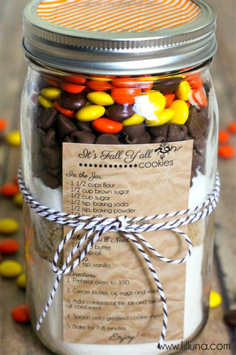 printable cookie jar recipes fall cookies in a jar gift