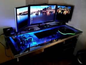 Custom Computer Desk For Sale Computer Inside Glass Desk Mod