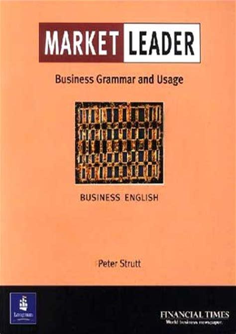 0007420579 intermediate business grammar practice market leader intermediate business grammar and usage