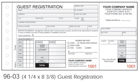 guest registration card template qe forms homepage