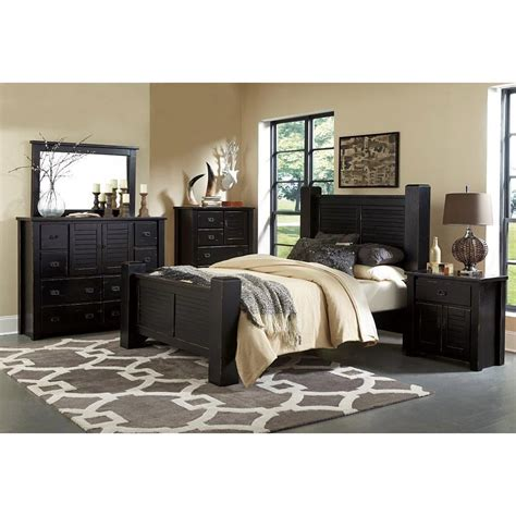 King Bedroom Furniture Sets by Trestlewood Black 6 Cal King Bedroom Set
