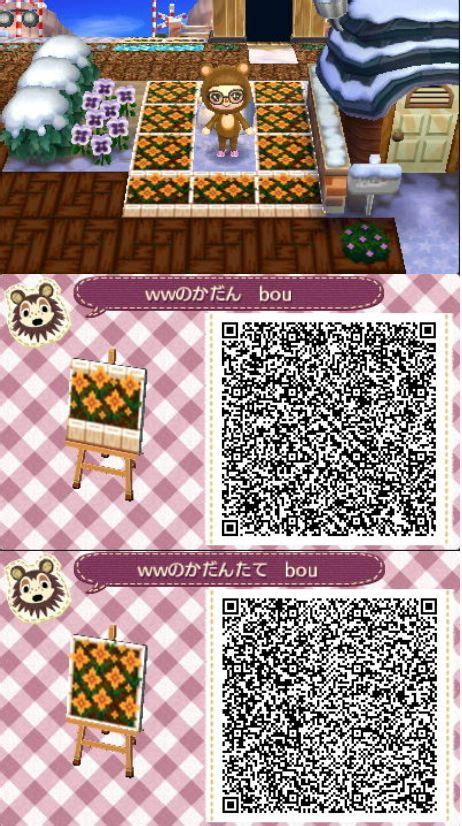 flower pattern qr code 134 best images about animal crossing new leaf qr codes