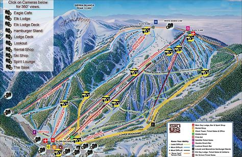 apache trail map ski apache the sights and of america