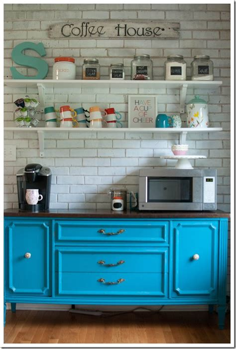 Coffee Hutch Turquoise Hutch Coffee Bar Replace Keurig With