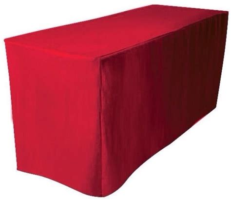 8 ft fitted polyester table cover trade show booth