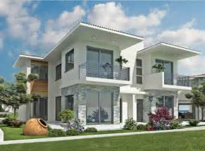 Modern exterior home designs with white paint color theme ideas home